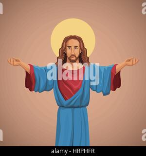 jesus christ religious image blessed - Stock Photo