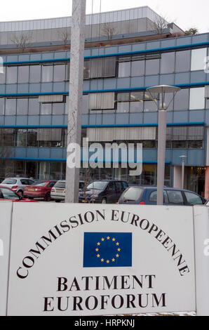 Luxembourg 03.03.2005. View of Euroforum building in Kircherg, European Commission, Nuclear Supply, Euratom. - Stock Photo