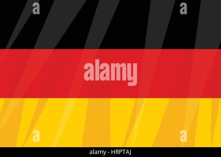 German state flag three colors black red yellow. Vintage comics cartoons illustration pop art retro vector - Stock Photo