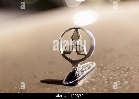 The Mitsubishi Motors Logo Stock Photo 51677413 Alamy