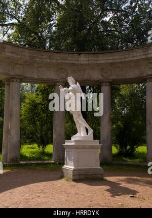 Pavlovsk Park Apollo Colonnade pavilion in Saint-Petersburg Russia - Stock Photo