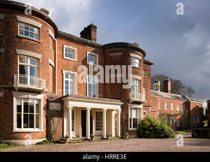 UK, England, Cheshire, Scholar Green, Rode Hall, home of the Baker Wilbraham family, entrance - Stock Photo
