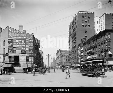 Main Street, Buffalo, New York, USA, Detroit Publishing Company, 1900 - Stock Photo