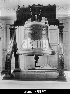 Liberty Bell, Independence Hall, Philadelphia, Pennsylvania, USA, Detroit Publishing Company, 1901 - Stock Photo