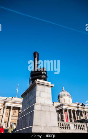 Really Good. Trafalgar Square, the Fourth Plinth was built in 1841 but remained empty. It now changes, and is currently - Stock Photo