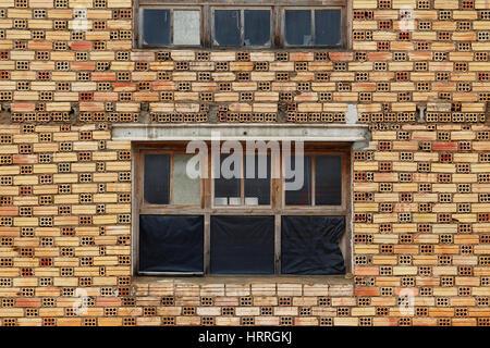 Window in a brick wall - Stock Photo