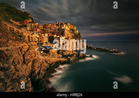 Manarola, Cinque Terre, Italy - Stock Photo