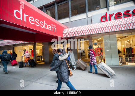 A Dressbarn women's clothing store in Midtwon Manhattan in New York on Friday, March 3, 2017. Judi Langley, executive - Stock Photo