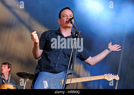 BARCELONA - MAY 30: The Wedding Present band performs at Arc de Triomf for free on May 30, 2012 in Barcelona, Spain. - Stock Photo