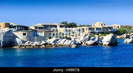Hotel Les Pecheurs, Cavallo Island, Corsica, France - Stock Photo