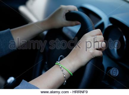 Embargoed to 0001 Sunday March 5 PICTURE POSED BY MODEL File photo dated 13/08/14 of a driver at the wheel. Fears - Stock Photo