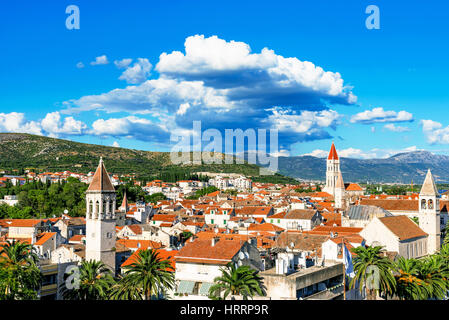 View of Trogir old town on a sunny day - Stock Photo