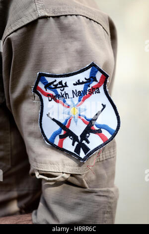 Dwekh Nawsha a military organization created in June 2014 in order to defend Iraq's Assyrian population from the - Stock Photo