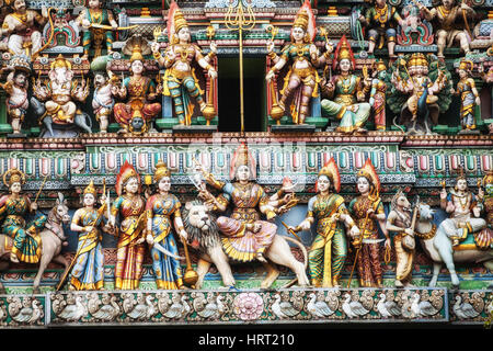 Sri Veeramakaliamman Temple, Hindu temple, Serangoon Road, Little India district, Singapore, Asia, Singapore - Stock Photo