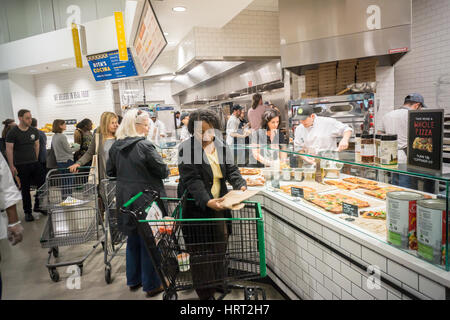 Prepared food in the new Whole Foods Market in Newark, NJ on opening day Wednesday, March 1, 2017. The store is - Stock Photo