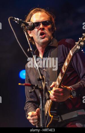 Joe Bonamassa, Byron Bay Bluesfest, April 1, 2010. Bonamassa is an American blues rock guitarist, singer songwriter, - Stock Photo