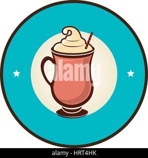 delicious milkshake drink icon - Stock Photo