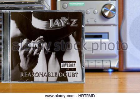... Jay Z 1996 Debut Album Reasonable Doubt.   Stock Photo