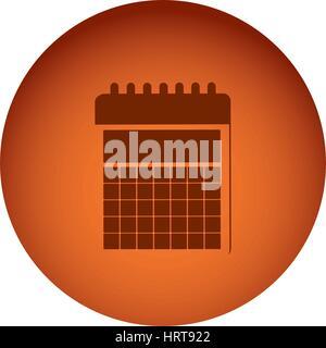 orange emblem calendar icon - Stock Photo