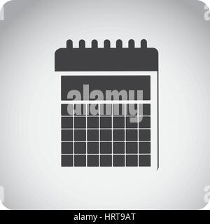 gray emblem calendar icon - Stock Photo