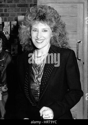 Anita Dobson, British actress, attends a celebrity event in London, England on March 20, 1990. She is married to - Stock Photo