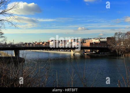 Erie Canal Seneca Falls New York - Stock Photo