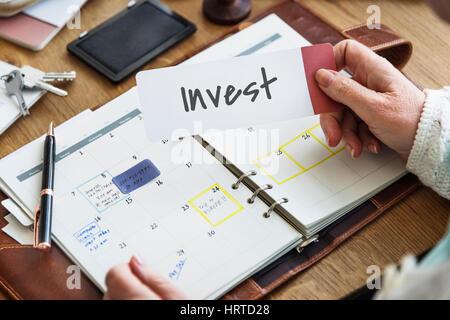 Where to Invest Entrepreneur Investment Financial Risk Assessment Concept - Stock Photo