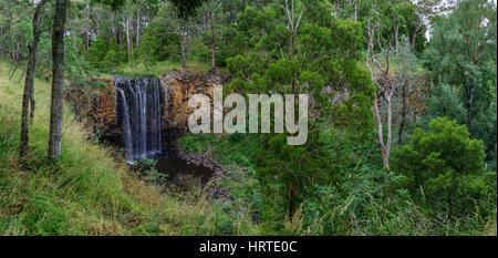 Trentham Falls, Freshwater Swimming Holes in Victoria, Australia. - Stock Photo