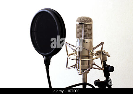 Professional Studio Microphone on stand - Stock Photo