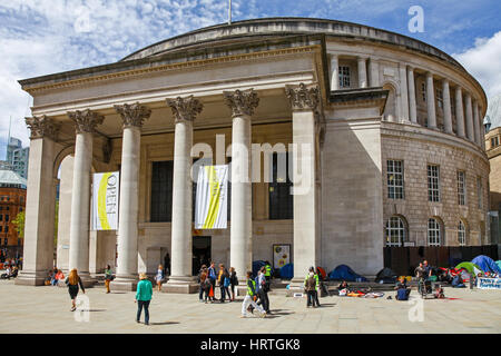 Manchester Central Library is the headquarters of the city's library and information service in Manchester, England, - Stock Photo