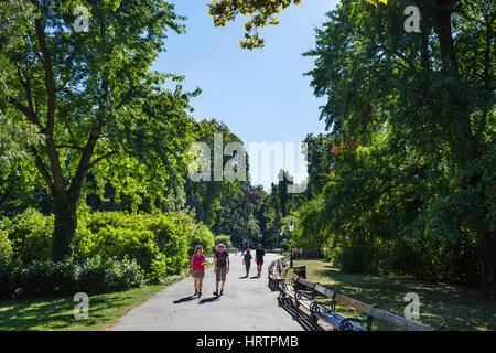 Path through the Stadtpark, Vienna, Austria - Stock Photo