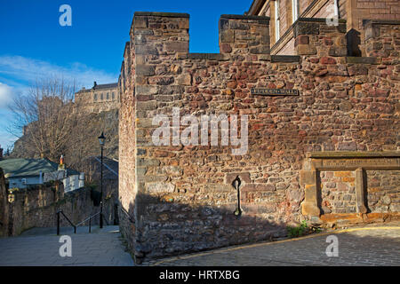 The Flodden Wall, Edinburgh city wall, Scotland - Stock Photo