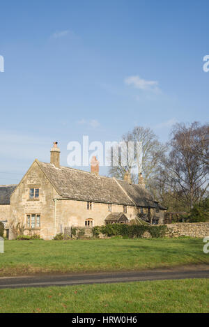 Traditional property in the village of Willersey, Gloucestershire, England, United Kingdom - Stock Photo