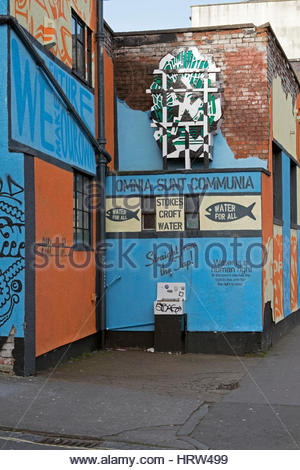 Street art on the theme of water in the Stokes Croft area of Bristol, UK - Stock Photo
