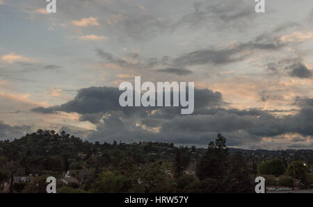 Sunset in Los Angeles - Stock Photo