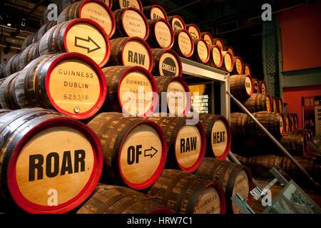 Guinness Storehouse in Guinness Brewery. Dublin. Ireland. Europe. - Stock Photo