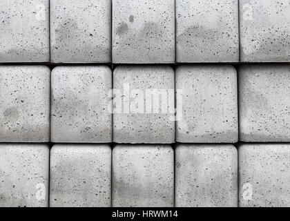 Stack of gray concrete blocks, abstract industrial background photo texture - Stock Photo