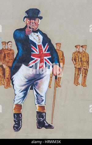 Who's Absent - Is It You? - British Recruiting Poster spray painted on a wall - Stock Photo