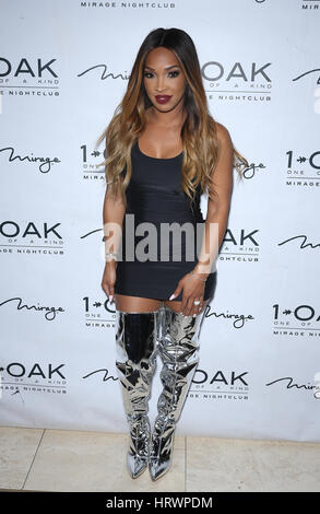 Las Vegas, NV, USA. 4th Mar, 2017. 03 March 2017 - Las Vegas, NV - Malika Haqq. Malika Haqq celebrates her birthday - Stock Photo