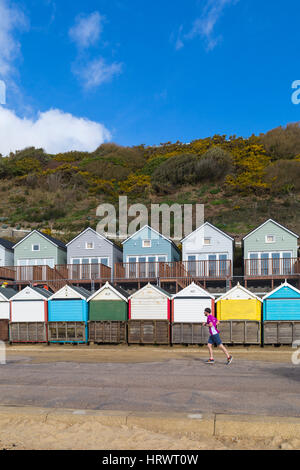 Boscombe, Bournemouth, Dorset, UK. 4th Mar, 2017. UK weather: lovely sunny, but breezy, day at Bournemouth beaches, - Stock Photo
