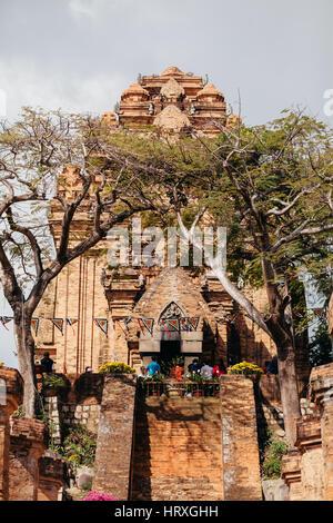 Nha Trang, VIETNAM - CIRCA February 2015 - lunar New Year festival in Pagoda Po Nagar in Nha Trang - Stock Photo