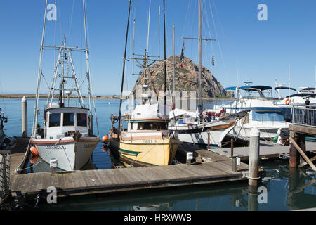 Boats in morro bay california stock photo royalty free for Morro bay fishing