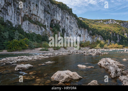 The mountain river with rapid current. - Stock Photo