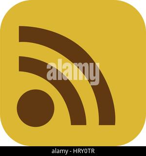 color square with wifi icon - Stock Photo