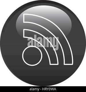 black circular frame with wifi icon