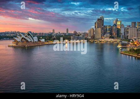 City of Sydney. Cityscape image of Sydney, Australia during sunrise. - Stock Photo