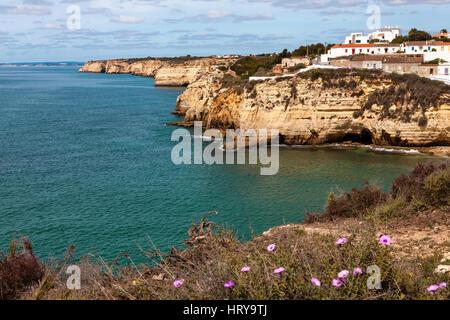 Algarve Coast near Carvoeiro Portugal - Stock Photo