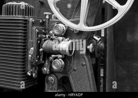 Antique Film Projector III - Antique Film Projector from the 1920's or 1930's - Stock Photo