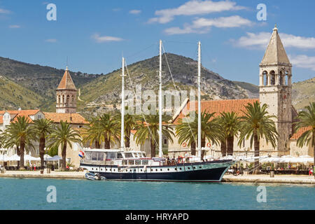 Harbour of Trogir, Croatia, and monuments - Stock Photo