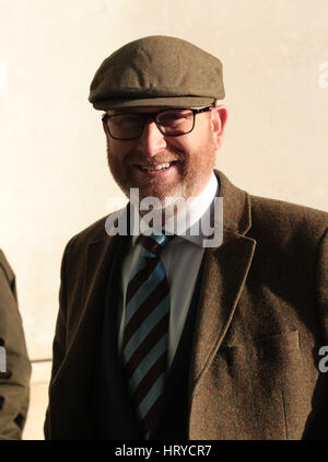 Paul Nuttall MEP seen at the BBC Studios in London, 22nd Jan 2017 - Stock Photo